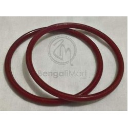 Pair of Red Pola Bangles 5 mm - PL1