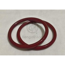 Pair of Red Pola Bangles 6 mm - PL2